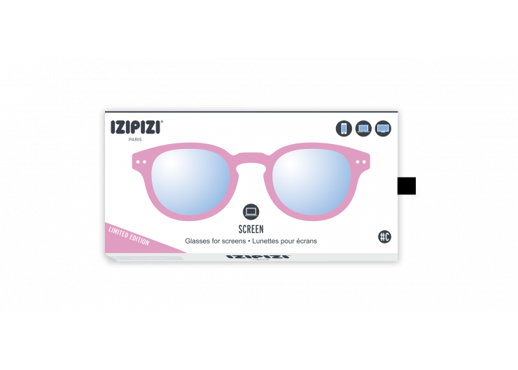 Izipizi C SCREEN Jelly Pink screen protective glasses