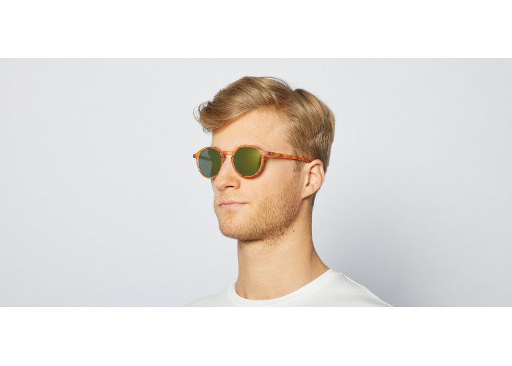Izipizi D SUN Yellow Tortoise Mirror sunglasses