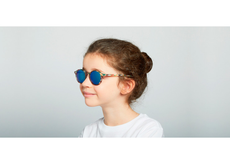 Izipizi D SUN JUNIOR Green Tortoise Mirror sunglasses kids