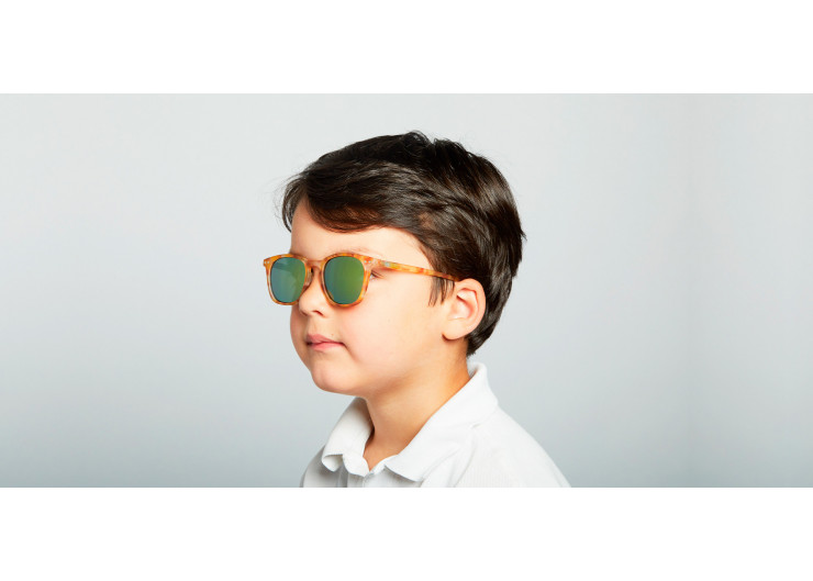 Izipizi E SUN JUNIOR Yellow Tortoise Mirror sunglasses kids
