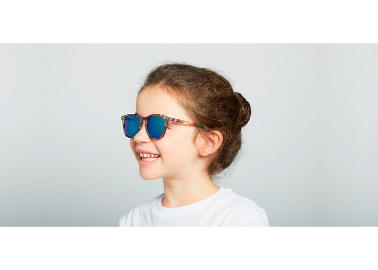 Izipizi E SUN JUNIOR Green Tortoise Mirror sunglasses kids
