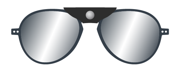 SUN GLACIER PLUS :Sunglasses for ski & mountains -  Without correction -  Protection 100% UV category 4