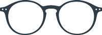 READING :  Reading glasses (presbyopia) - Shape #D (round, timeless, best-seller) -  +0 (without correction) to +3 diopters