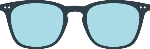 SCREEN READING : Reading glasses (presbyopia) for screens -  Shape #E (  trapezoid, large, contouring)  -  Filter 40% of blue light  -  +0 (without correction) to +3 diopters