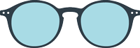 SCREEN READING : Reading glasses (presbyopia) for screens -  Shape #D (round, timeless, best-seller)  -  Filter 40% of blue light  -  +0 (without correction) to +3 diopters